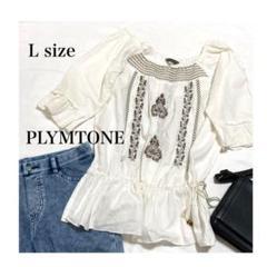 ボタニカル柄の刺繍が可愛い PLYMTONE トップス シャツ ボリューム袖