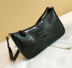 ショルダーバッグ レディース おしゃれ クロコ柄 高品質 肩掛け レザー 黒 鞄