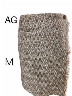 AG 巻きスカート M 美品 ブラウン系