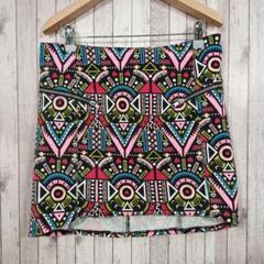H&M DIVIDED マルチカラー スカート【L】ストレッチ