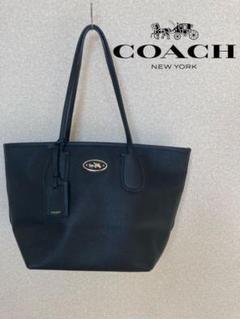 【美品】COACH コーチ 33915 トートバッグ ブラック チャーム付き