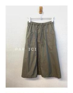 PAR ICI  フレアスカート カーキ 玉虫色 F Y853