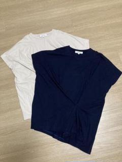 ENFOLD ソフト天竺タックTシャツ 2枚セット